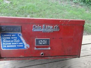 Old Heavy 39 Lbs Vintage Snap On Tool Box Usa 3 Drawers