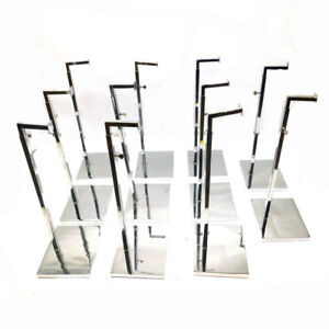 lot Of 11 15 To 23 5 Chrome Adjustable Retail Display Fixtures Square Hook