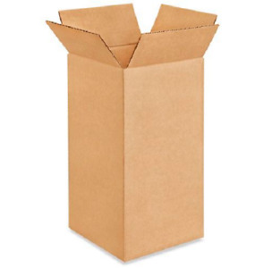50 6x6x12 Cardboard Paper Boxes Mailing Packing Shipping Box Corrugated Carton