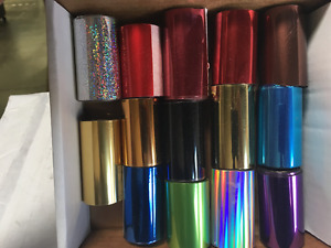 Hot Stamping Foil Kingsley Howard 14 Color Lot 2 x100 Ft 1 2 Inch Core