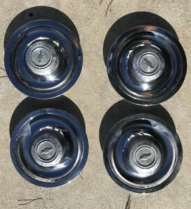 Corvette Chevelle Nova Rally Wheel Center Hub Caps 1966 1967 Factory Original