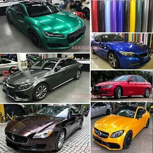 Glossy Glitter Pearl Metal Mirror Chrome Vinyl Wrap Car Paint Sticker Film Ab