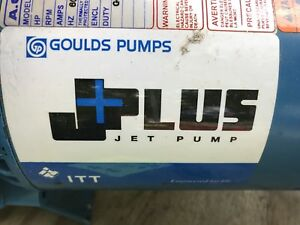 Well Water Jet Pump 1 2 Hp Goulds All Metal Used Only 1 Year