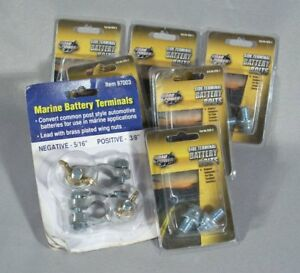 Lot Of Nos 5 Road Power Battery Terminal Side Bolt 926 2 Plus 1 Set Marine Top