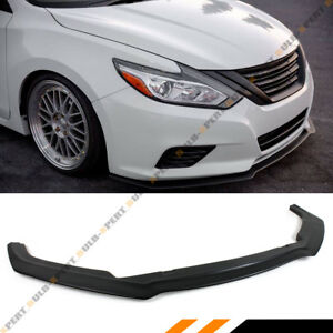For 2016 2018 Nissan Altima 4 Door Sedan Black Jdm Front Lip Bumper Splitter