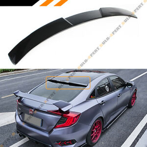 For 2016 19 10th Gen Honda Civic 4dr Sedan Glossy Black Rear Window Roof Spoiler