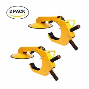 2pcs Wheel Lock Clamp Boot Tire Claw Auto Car Truck Rv Boat Anti Theft Towing