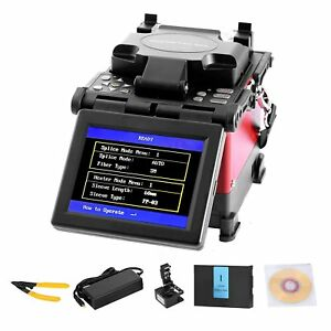 Ftth Fiber Optic Splicing Machine Fusion Kit 5 Display Cleaver Auto Manual
