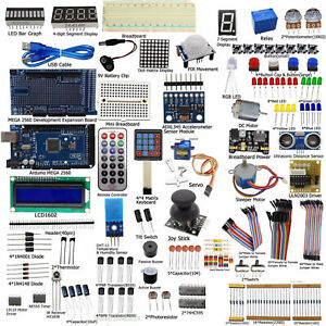 Ultimate Starter Kit For Arduino Mega 2560 Lcd1602 Motor Led Relay Diy Set