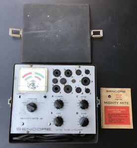 Sencore Tc 130 Mighty Mite Iii Emission Tube Tester With Book