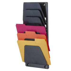 7 Compartment Wall File Holder A4 Size Letter Mail Document Displays Filing Doc