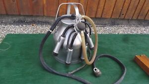 Great Delaval Pail Bucket Milker Goat Cow Milking Machine Stainless Steel