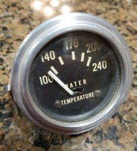 Vtg Stewart Warner Water Temperature Gauge Rat Hot Rod