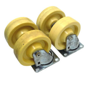 4 Induthane 4 X 1 25 Swivel Wheel Casters Solid Polyurethane Heavy Duty