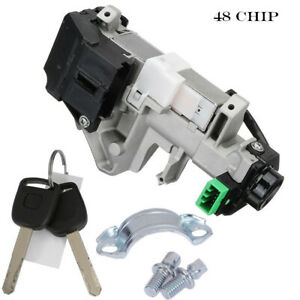 Ignition Switch Cylinder Lock Auto Trans Fits 2003 2007 Honda Accord With 2 Keys