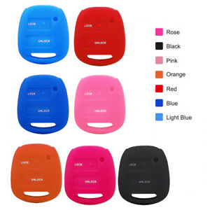 Durable 2 Buttons Silicone Key Fob Case Cover For Toyota Camry Corolla Rav4