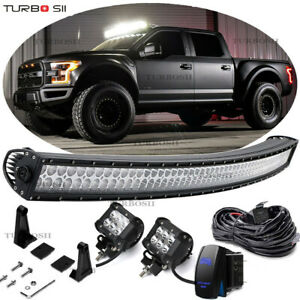 54 Curved Led Light Bar Offroad Driving 2004 14 Ford F150 svt Raptor Upper Roof