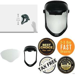 Uvex Bionic Face Shield Helmet Mask Clear Visor Protective Safety Grinding Cover