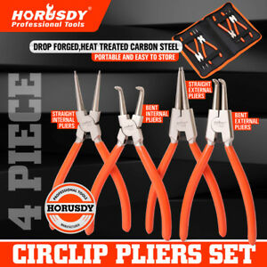 4pc 7 Circlip Plier Snap Ring Pliers Portable Internal External Retaining Clip
