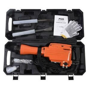 2200w Electric Demolition Jack Concrete Punch Chisel Hammer Breaker Bit Portable