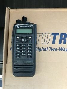 Motorola Xpr 6550 Uhf Mototrbo Handheld Radio Package A Condition with Spkr Mic