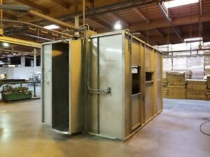 Stainless Steel Powder Coat Booth 14 1 2 Long X 10 Ft Wide X 9 Ft High