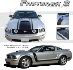 Fastback 2 Boss Style Mustang Graphics Stripes Decal 2006 3m Pro Grade 005