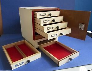 New Wooden Microscope Prepared Slide Storage Cabinet For 500 Slides Kayco