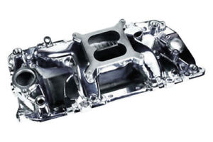 E Force Intake 83025 Chevy Bbc 454 Single Plane W Divider Oval Port Polished
