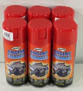 Aervoe 550 Engine Enamel Paint Ford Red 12 Oz Can Case Of Six Cans