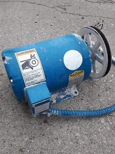 Baldor 5 Hp Industrial Electric Motor 3 Phase 208 230 460 Volt With Pulley