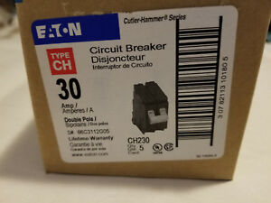 5 Count New Eaton Ch230 Type Ch 30 Amp Circuit Breaker Double Pole Box Of 5