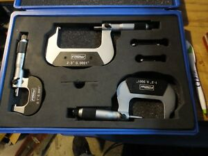 Fowler 52 224 103 0 Digit Counter Outside Micrometer Set 0 3 Inch Mic Mikes