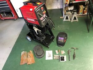 Craftsman Flux Core Wire Mig Feed Welder w Extra Tips Nozzle Stand Face Mask