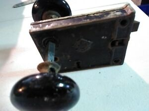 Vintage Door Handle Lock Set Requires Skeleton Key Great Shape Complete