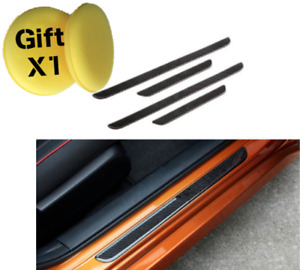 Carbon Fiber Welcome Pedal Door Sill Scuff Panel For Honda Civic 10th 2016 2018