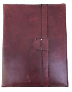 Vintage Hartmann Leather Portfolio Binder Folder Burgundy 12 5 X 9 5