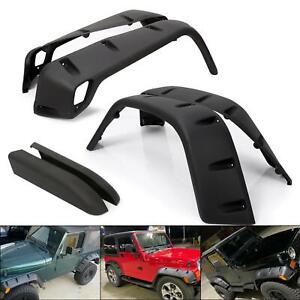 For 97 06 Jeep Wrangler Tj 7 Wide Pocket Extended Fender Flares Kit Black 6pc