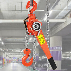 3ton Block Chain Hoist Come Along 5ft Ratcheting Lever Puller Red Pop