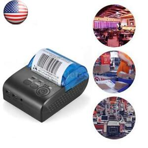 Mini 58mm Wireless Usb Thermal Pos 5805dd Pos Printer Receipt Bill Ticket Q7z3