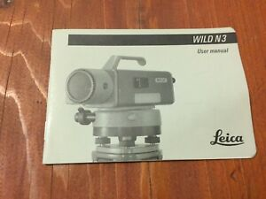 Leica Wild N3 Level User Manual Surveyor