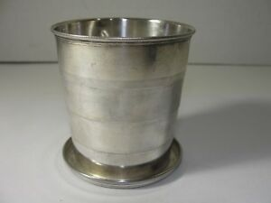 Vintage Uk Sterling Silver Collapsible Cup Birmingham Military Or Travel 69 6g