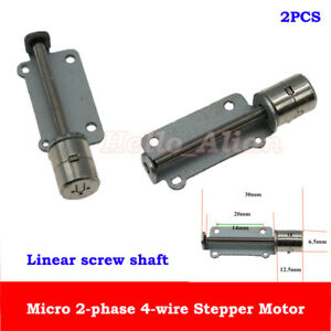 2pcs 2 phase 4 wire Micro Mini 6 5mm Stepper Stepping Motor Linear Screw Shaft