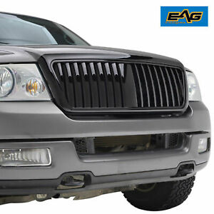 2004 2008 Ford F 150 Abs Grille With Shell Glossy Black Vertical Bar Replacement