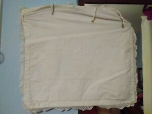 Vintage Bag Possibly For Clothes Pins Or Toaster Cover White 14 X 16 78