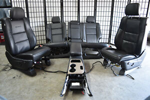 14 17 Jeep Grand Cherokee Summit Black Leather Seats Set Console Dvd Tv Oem