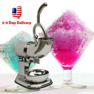 Best Ice Shaver Machine Snow Cone Maker 400 Lbs Electric Crusher 220w Usa Stock
