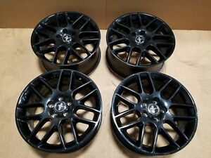 2014 Ford Mustang Wheel Set Of 4 Black 18 Inch Rims Oem Lkq