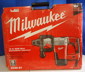ri5 Milwaukee 5446 21 15lbs 1 3 4 Sds max Corded Electric Demolition Hammer