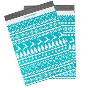 Christmas Sweater Printed Poly Mailers 14 5x19 Multiple Quantities
